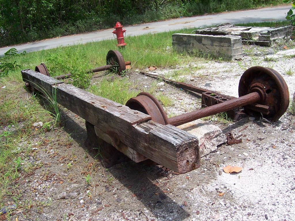 Drydock boat trailer system located right next to the