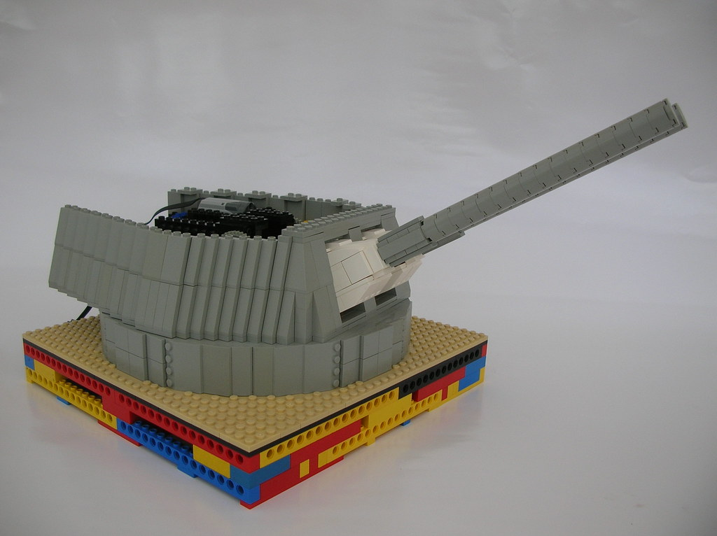 how to build a lego machine gun turret