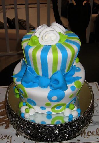 Green Blue Cake Sharoncakes Flickr