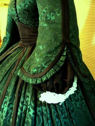 Scarlett O'Hara Green Christmas Dinner dress