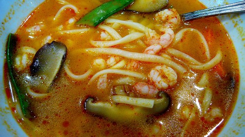 Hot Chilli prawn noodle mushroom soup | by HyperBob