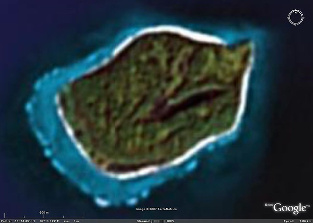 South Sentinel Island Terrametrics Image From Google Ear