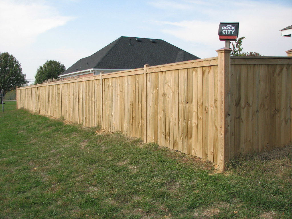 Cap top 6ft privacy fence fence installed by rayco fences flickr baanklon Gallery
