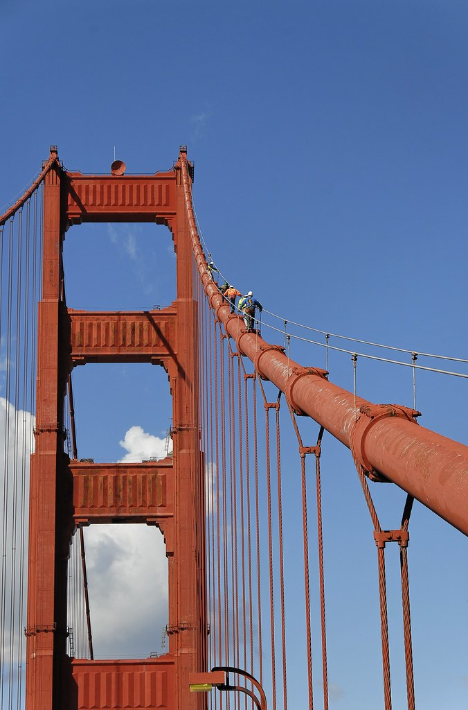 Climbing The Golden Gate Has Anyone Else Seen People