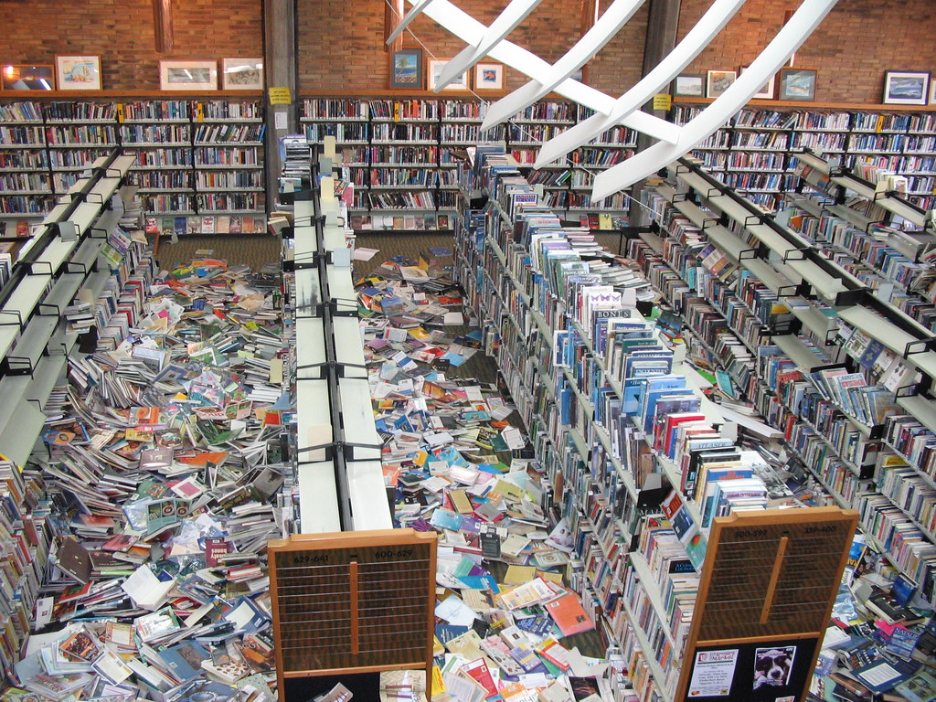 An Estimated 80 000 Books On The Floor The Library Was A