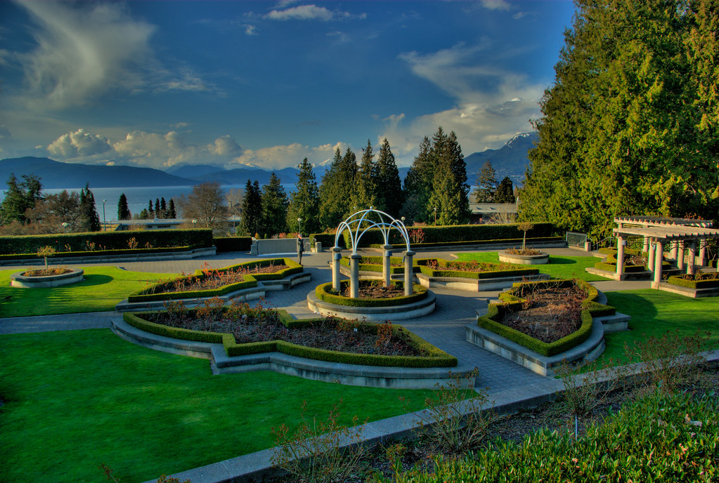 Ubc Rose Garden Moderate A Moderate Hdr Ing Of The Ubc R Flickr