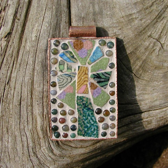 Colored porcelain mosaic pendant this handsome pendant sta flickr colored porcelain mosaic pendant by duffy designs aloadofball Choice Image