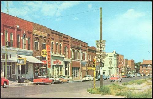 Front St., Dodge City, Kansas, 1960 | The 1885 historical br… | Flickr