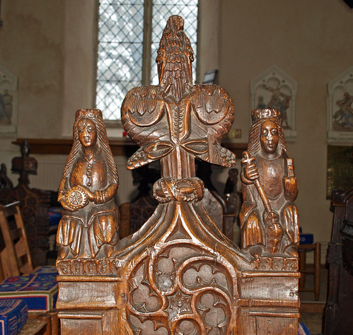 Bench end SS Catherine & Margaret
