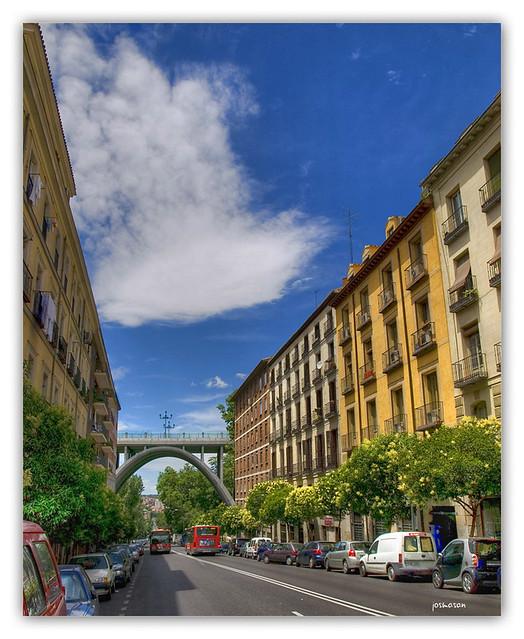 madrid viaducto desde la calle segovia hdr