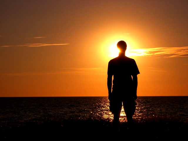 Image result for halo effect silhouettes sunset