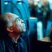 Gilberto Gil listening to Lessig's presentation