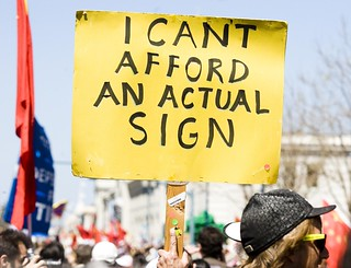 I Can't Afford an Actual Sign | by Thomas Hawk