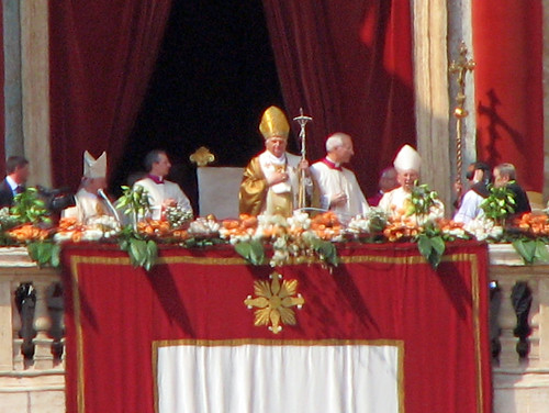 Saint Peter's Square - The Pope Benedict XVI before the Urbi et Orbi Blessing | by *Checco*