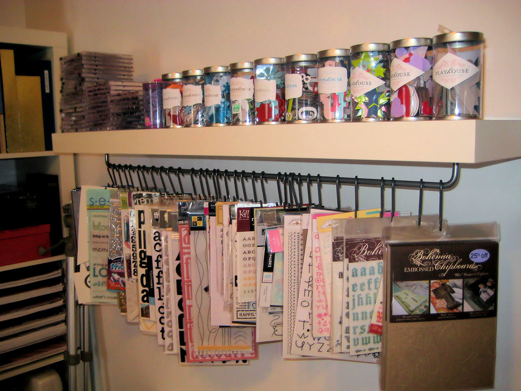 Scrapbooking Storage Shelf