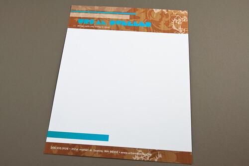 Modern Interior Design Letterhead