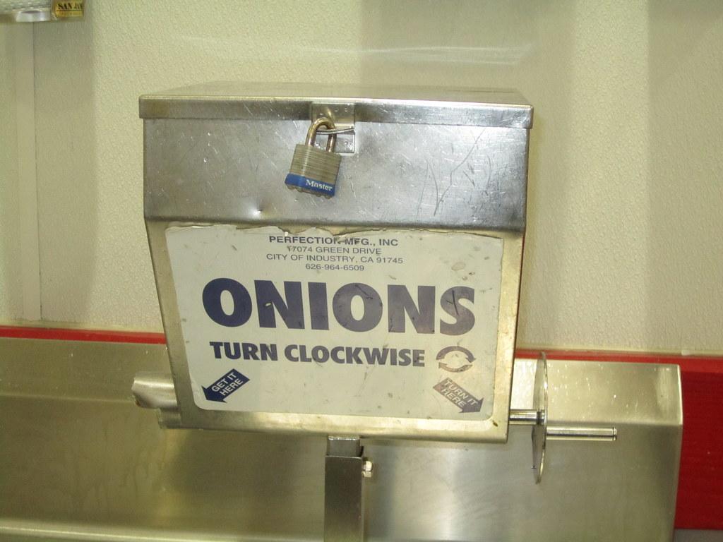 I Just Like A Padlocked Onion Dispenser Costco Brooklyn N Flickr