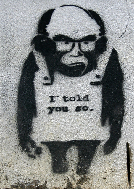 i told you so not sure if this one is a banksy canada lane flickr
