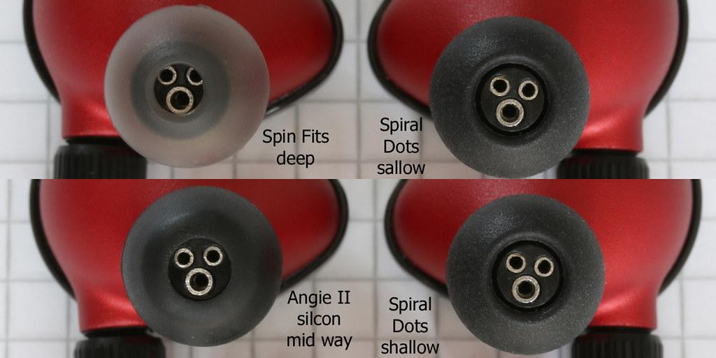 Comply vs Spiral Dot vs SpinFit