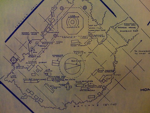 how to draw a batcave map
