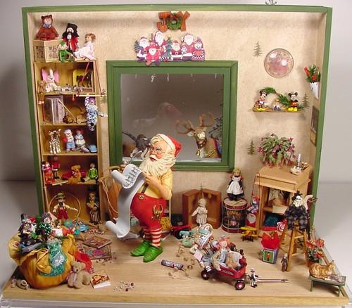 Santa S Workshop 1 12 Scale Dollhouse Miniature Santa S