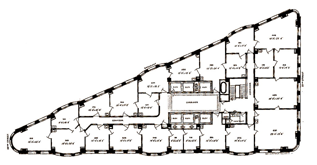 Fuller Building | Plan of typical floor. | Marlin Farnaux ...