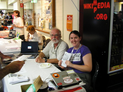 Wiki(m|d)edia stall at Open Day | by pjf.id.au