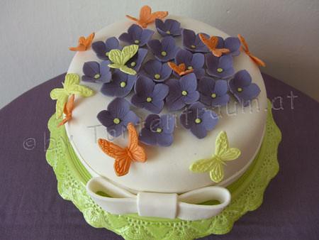 Hortensien Schmetterling Torte  by ♥ Tortenfiguren.at ...