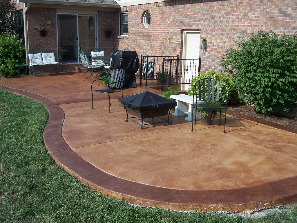 stained concrete patio | For information on how to do your ...