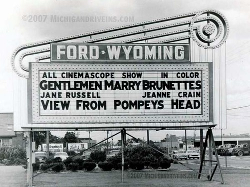 the original marquee at the ford wyoming drive in in dearborn. Cars Review. Best American Auto & Cars Review