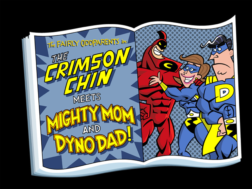 mighty mom and dyno dad meet the crimson chin villains