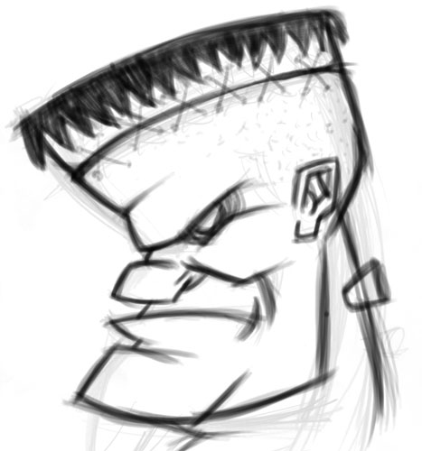 how to draw a cartoon head in photoshop
