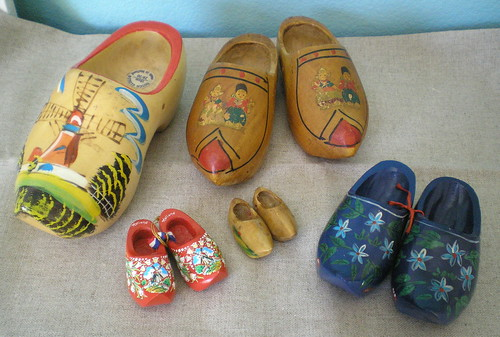 wooden clog collection | by scissorspaperglue