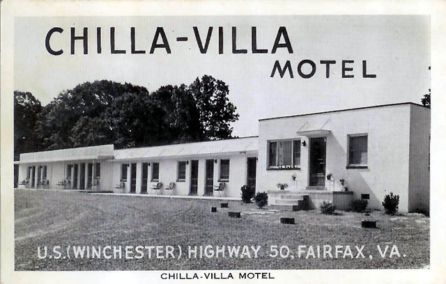 Chilla villa motel south fairfax virginia vintage postc flickr for Villa moderne motel