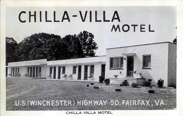 Chilla villa motel south fairfax virginia vintage postc flickr for Villa moderne motel