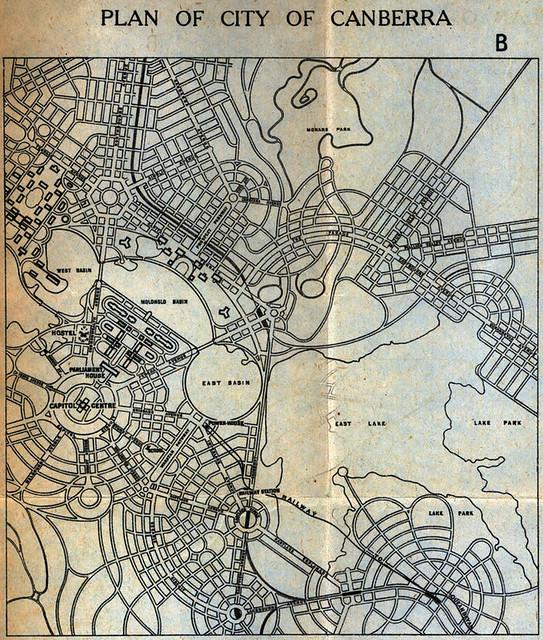 Canberra Design Plan Walter Burley Griffin 3 Map