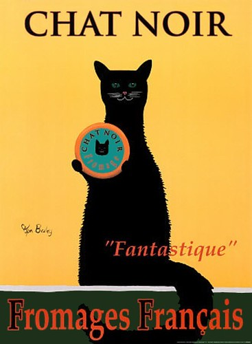 French Black Cat Chat Noir