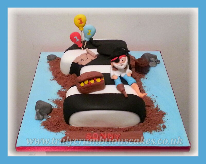 Number One Cake Pirate Themed Birthday Cake Debbie Scott Flickr