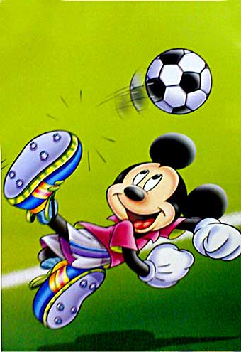 mickey mouse playing football disney poster by firstposter showcase