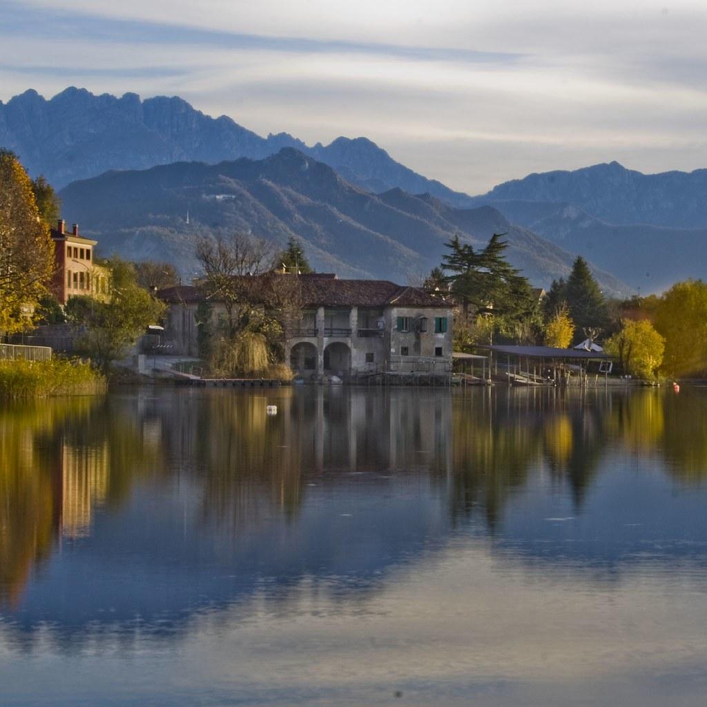 Reflection on Lake of Pusiano - Brianza - Italy   Santino ...