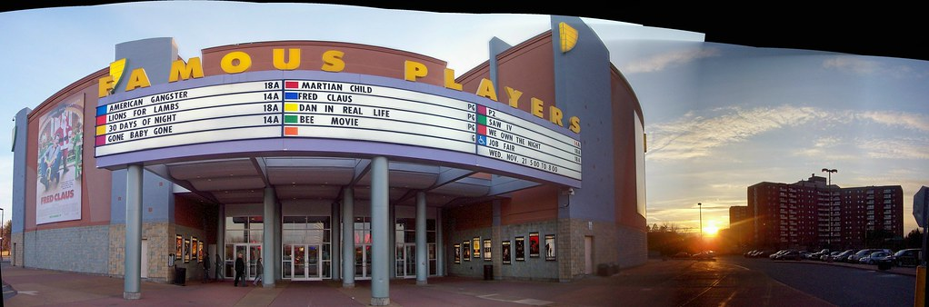 the exterior of the famous players coliseum cinema in subu