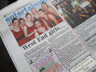 Elizabeth and friends in the local paper, Elizabeth is top right | by vivienne k