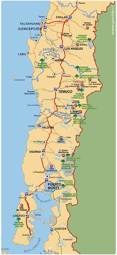 Mapa do Chile - mapa de Chile - map of Chile. | by thejourney1972 (South America addicted)