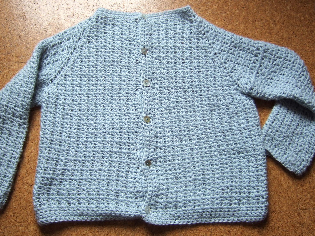 Top Down Crochet Raglan Cardigan Designed Using Knitware S Flickr