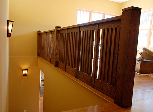 The Mission style Banister Finished After Ten Months