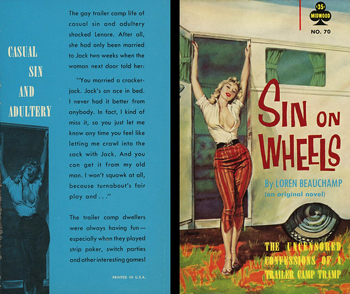 Midwood Books 70 - Loren Beauchamp - Sin on Wheels (with back) | by swallace99