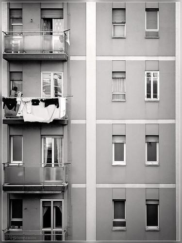 Depressing Apartment Building Facade