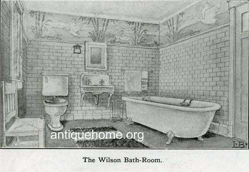 Arts and crafts interior 1910 the bungalow bathroom for Arts crafts bathroom design
