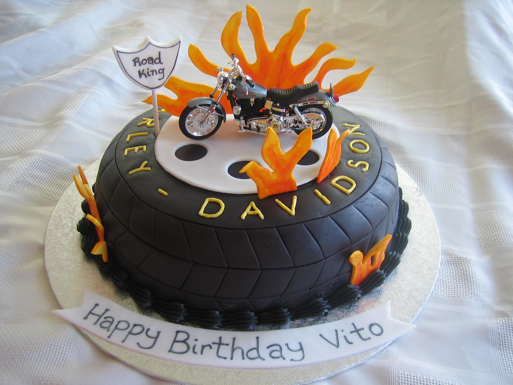 How To Make A Harley Davidson Bike Cake