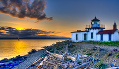 Sunset at West Point Lighthouse | by moog55